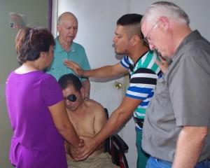 Praying for pastor Sergio