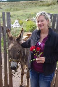 Tonyia and donkey
